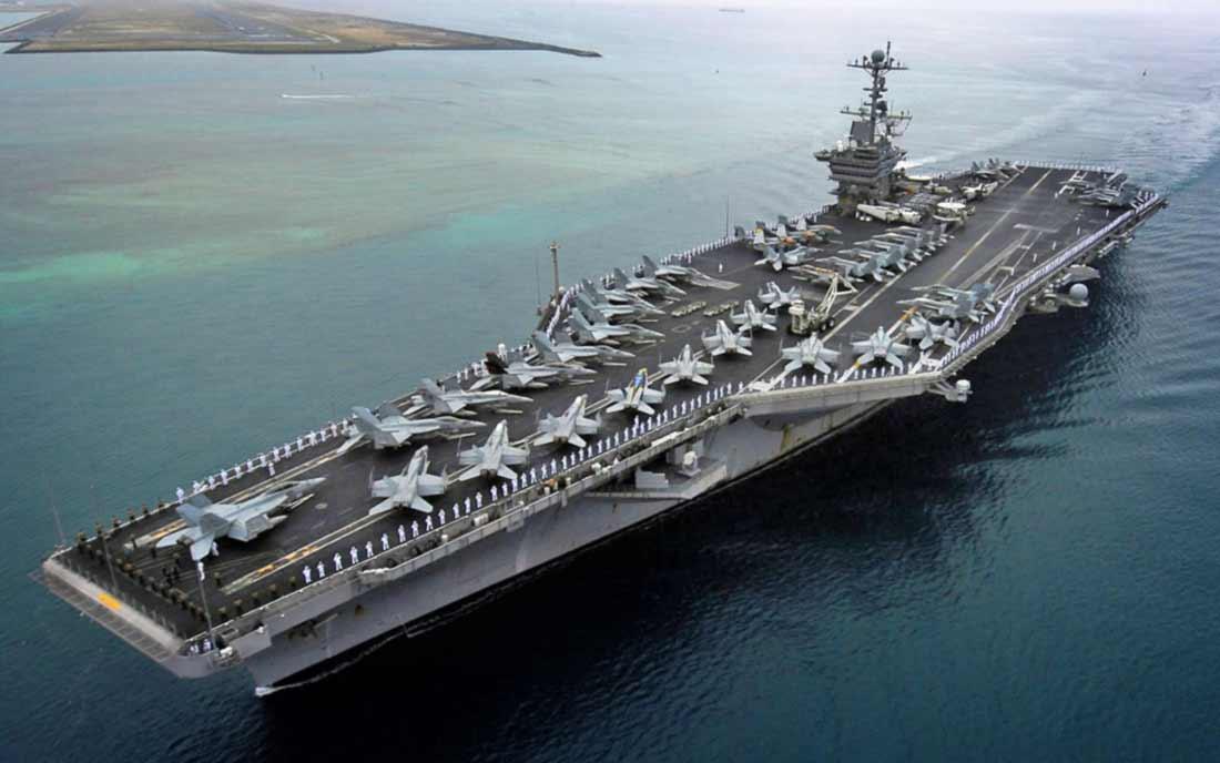 10 самых больших авианосцев в мире находящихся на вооружении