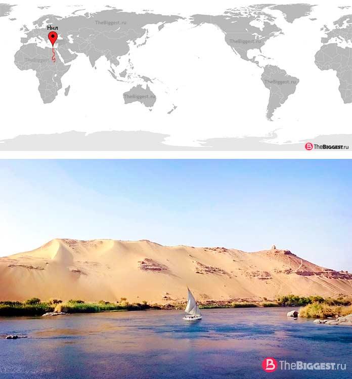 Нил — самая длинная река в Африке