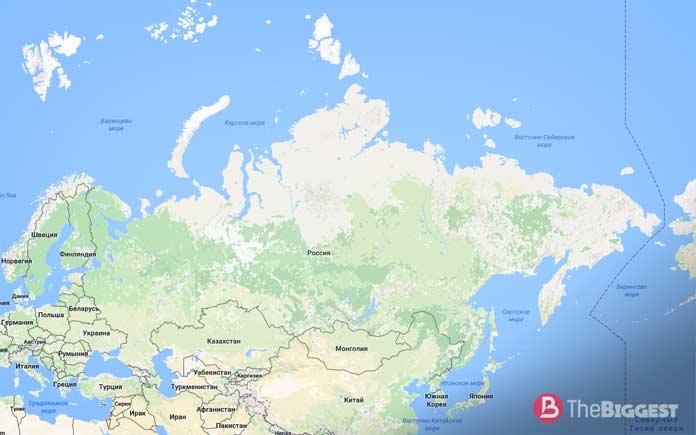 Карта России. Самая большая страна!