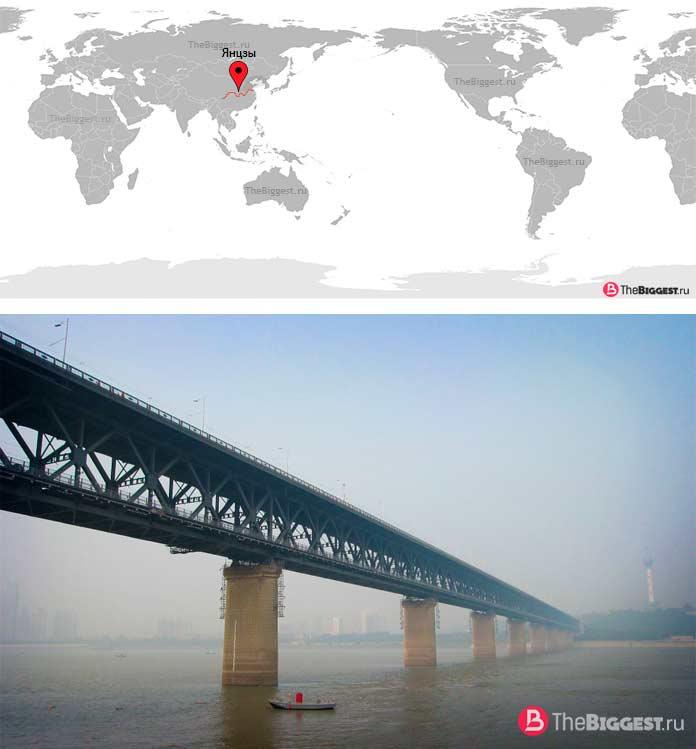 Янцзы — самая большая река в Китае