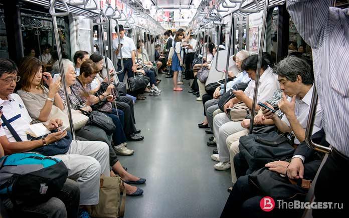 Токийский метрополитен - один из самых больших в мире
