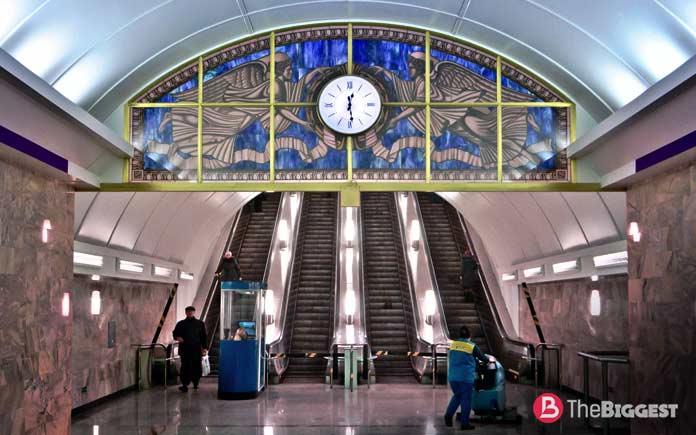 Самое глубокое метро: Адмиралтейская станция