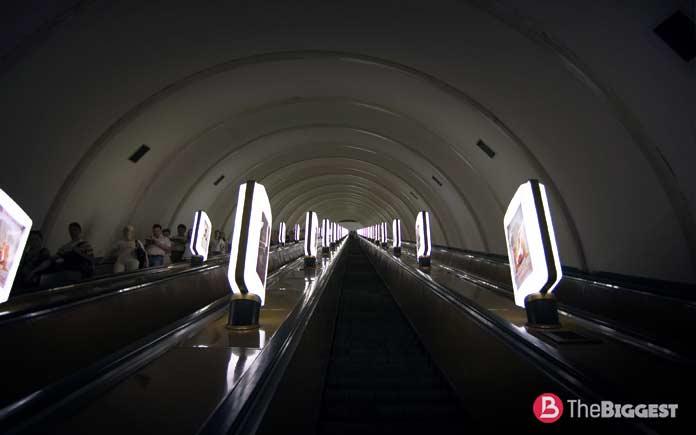 Самое глубокое метро: Печерская станция метро