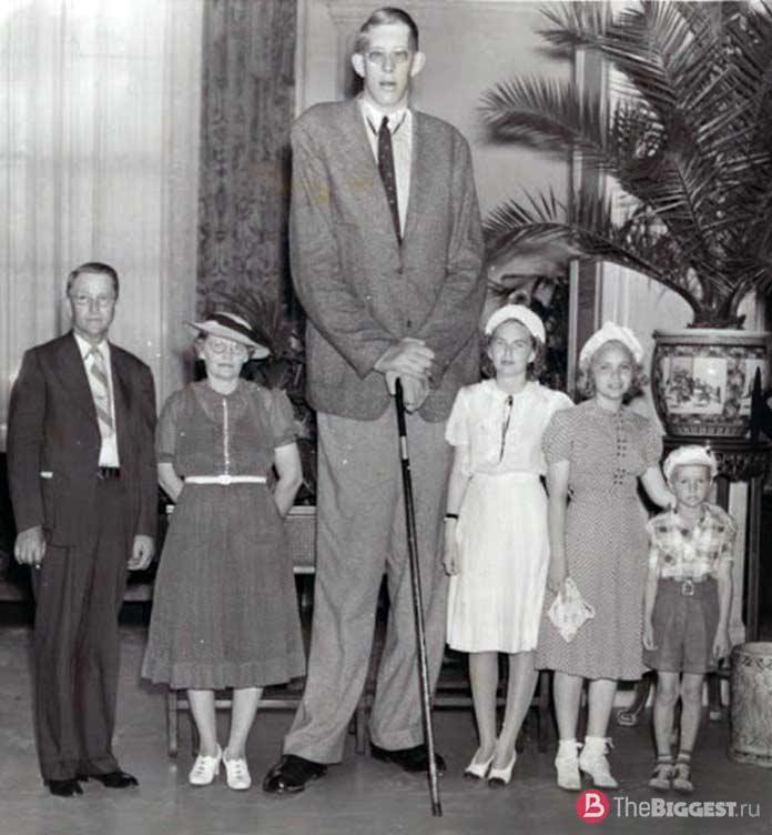 Самые высокие люди планеты: Джон Кэрролл