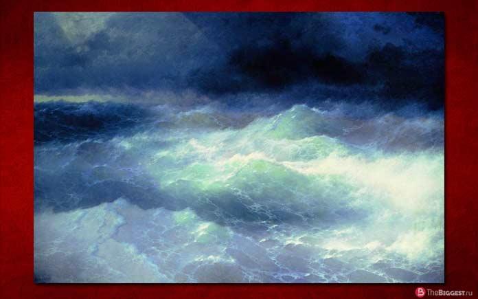 Самые большие картины: Среди волн