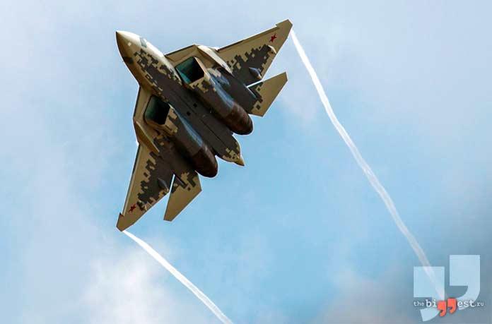 лучшие военные самолёты: Су-57. CC0