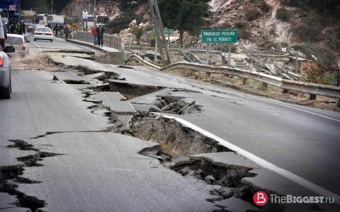 Самые мощные землетрясения