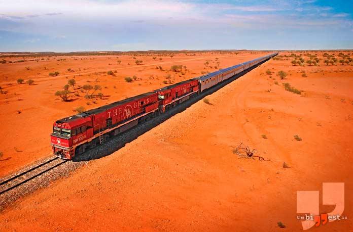 самые длинные поезда в мире: Пассажирский поезд Ghan