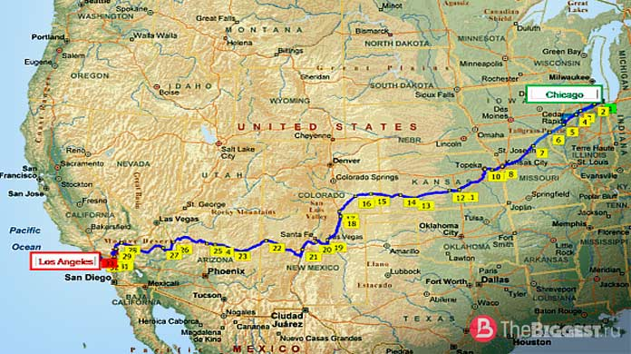 длинные железные дороги: Чикаго - Лос-Анжелес