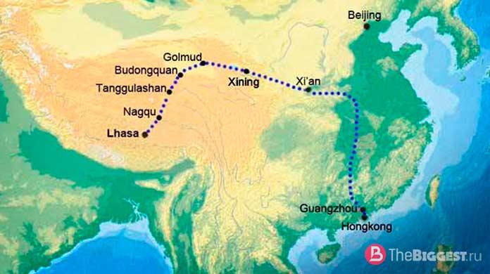 длинные железные дороги: Лхаса