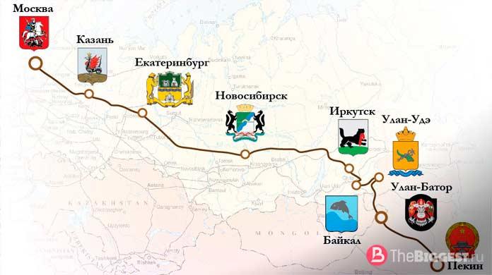 длинные железные дороги: Москва Пекин