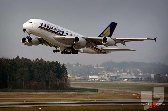 Самые большие авиакомпании в мире: Singapore Airlines. CC0