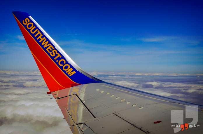 Самые большие авиакомпании в мире: Southwest Airlines. CC0