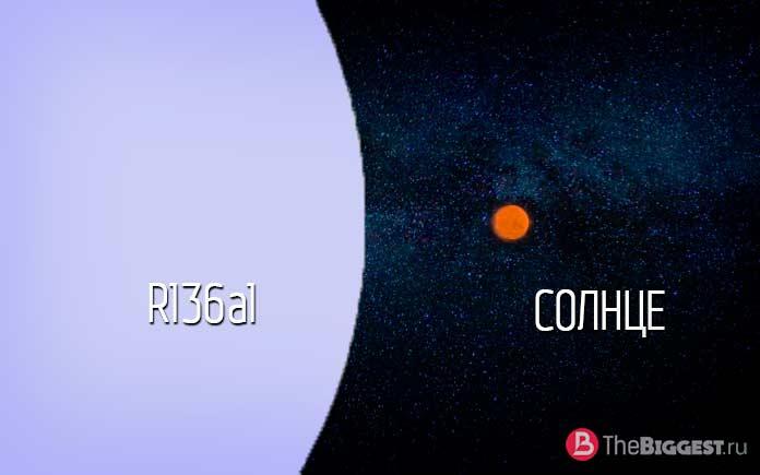 сравнительные размеры R136a1
