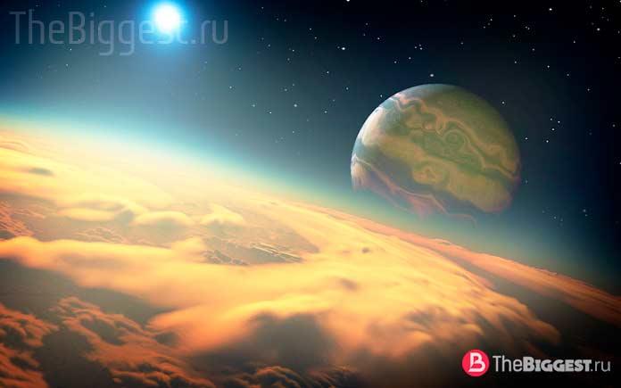 Художественное изображение спутника