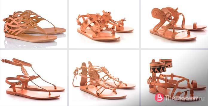 Древнегреческие сандалии Крепиды