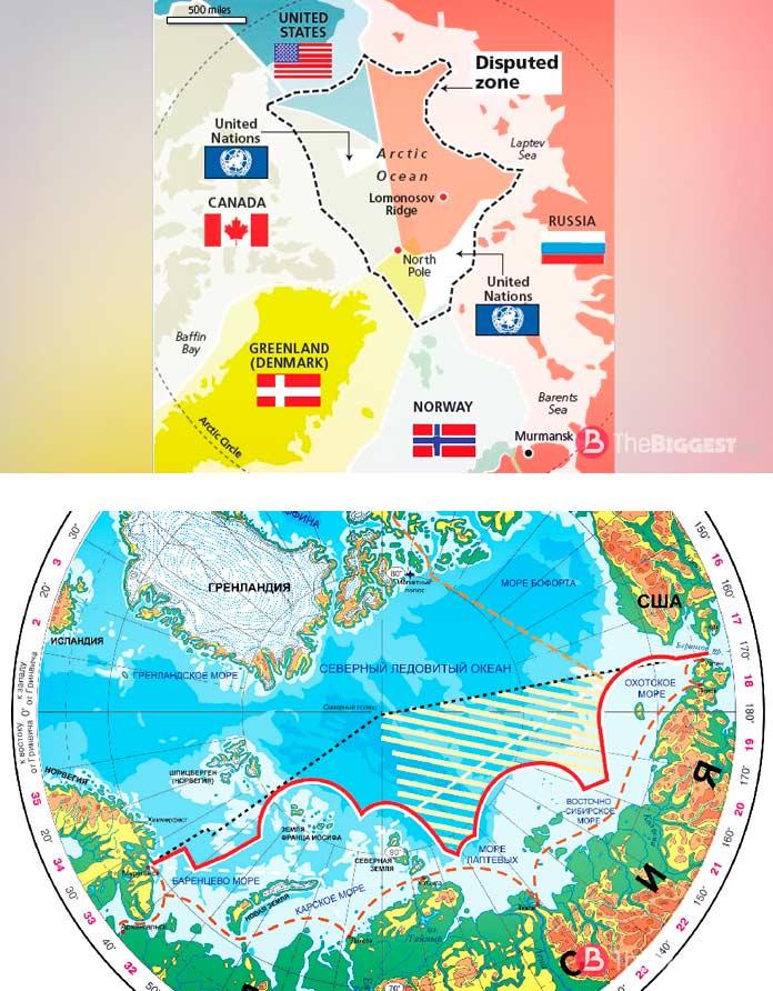Кому принадлежит Арктика