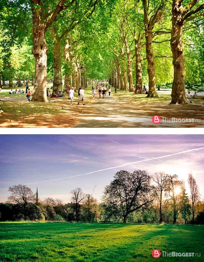 Красивые парки Лондона: Гpин-пapк