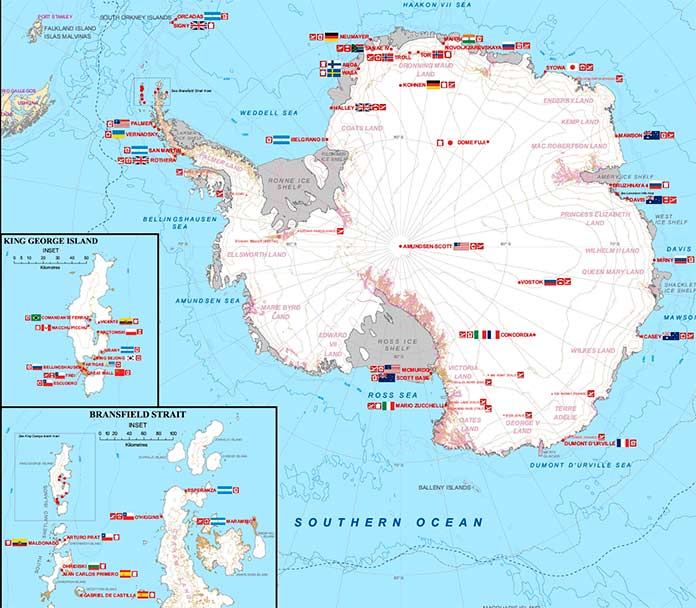 Станции Антарктиды
