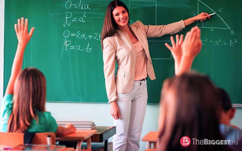В казахстане большой процент учителей женского пола