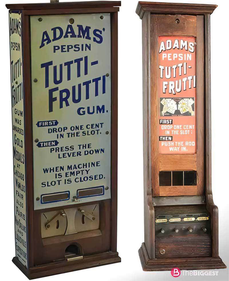 Первые автоматы жвачки