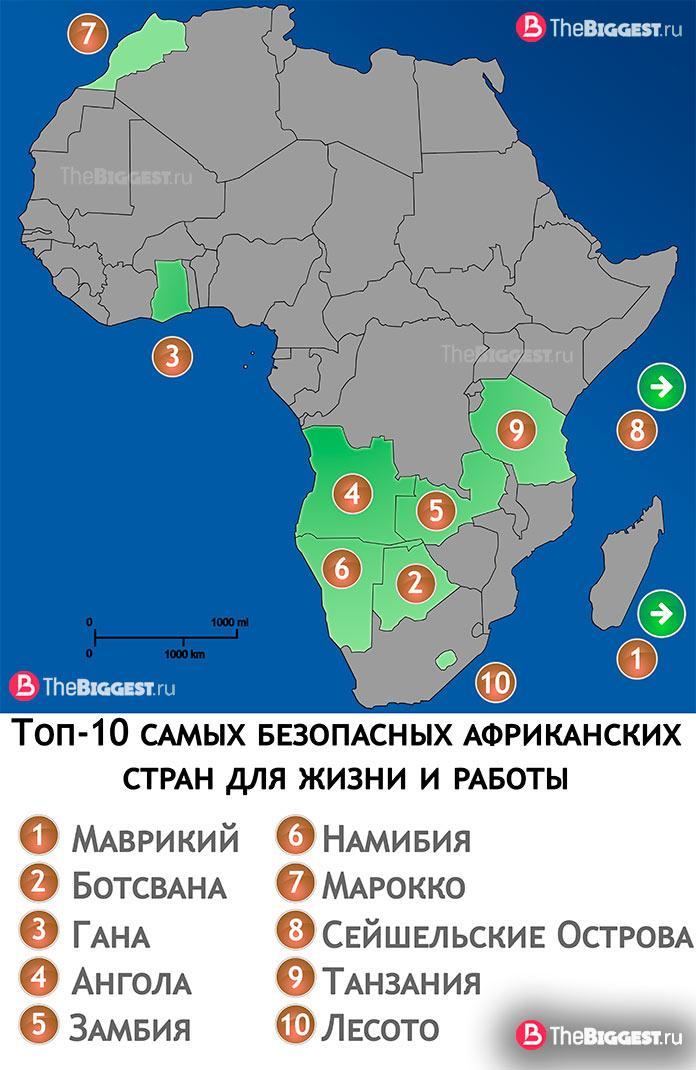 Топ-10 самых безопасных африканских стран для жизни и работы