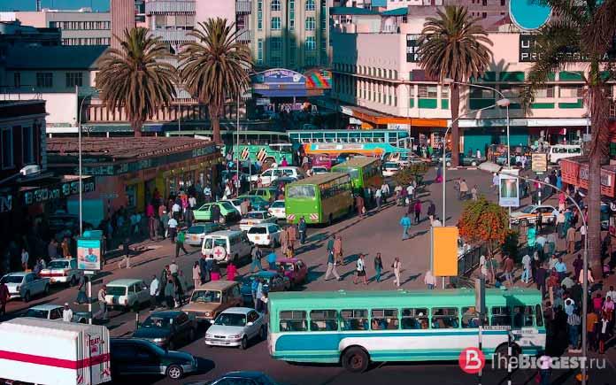Африка густонаселенная