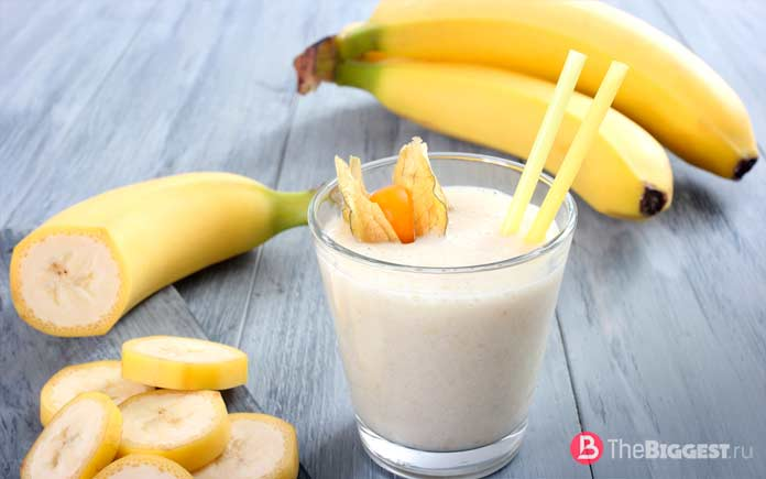 банановый коктейль с медом от тяжёлого похмелья