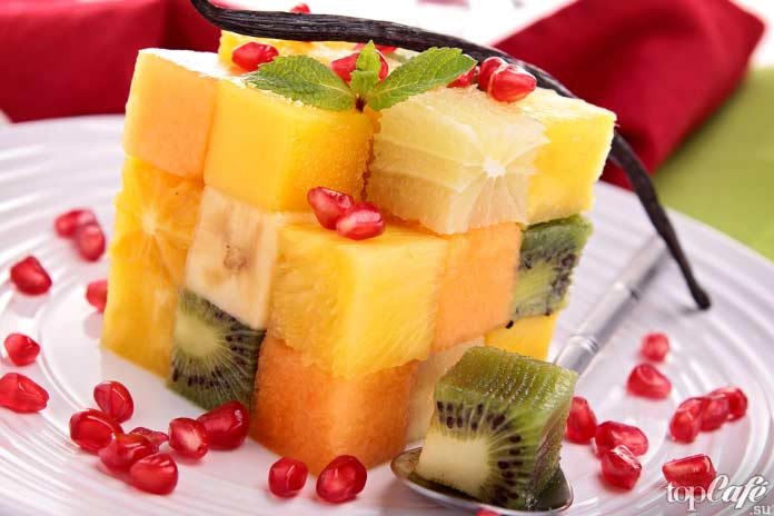 салат из манго с фруктами