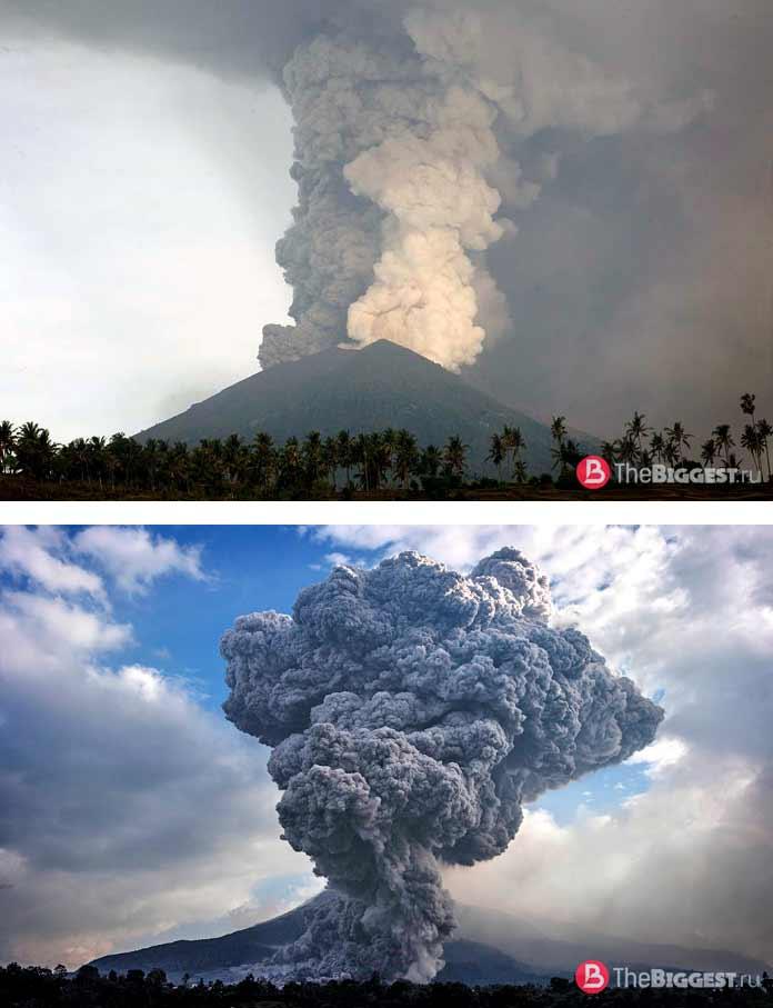 Агунг. Индонезия