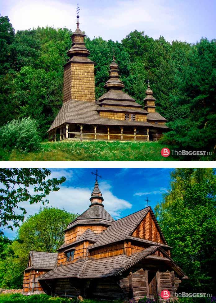 Деревянные церкви в Пирогово