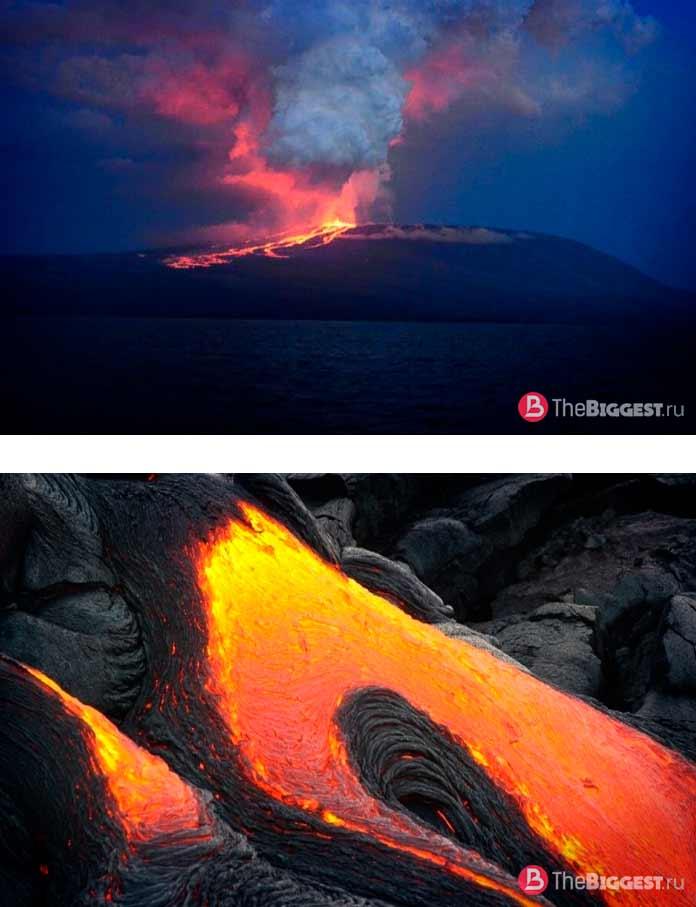 Цепь вулканов острова Исабела