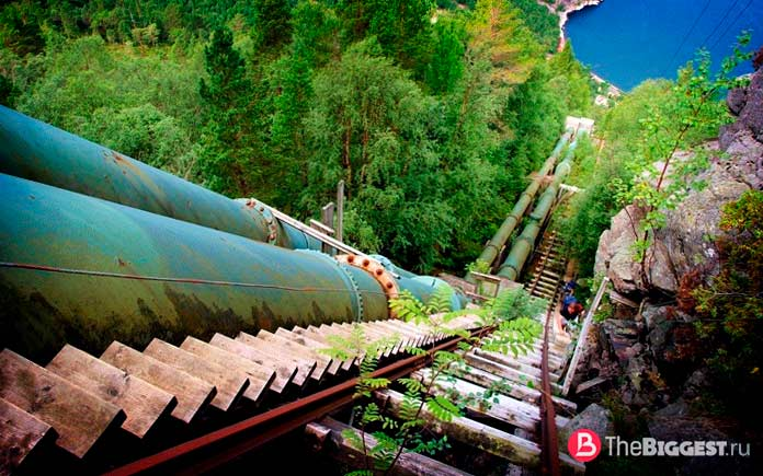 Деревянное чудо среди самых длинных лестниц