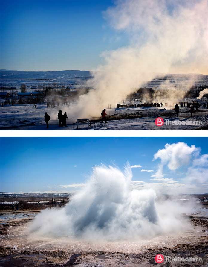 ТОП-12 самых больших гейзеров в мире: Исландии