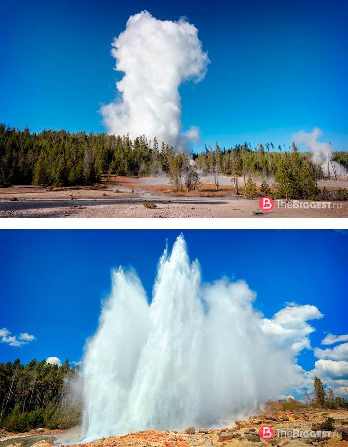 ТОП-12 самых больших гейзеров в мире: Пароход