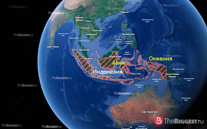 Индонезия - трансконтинентальные страны мира