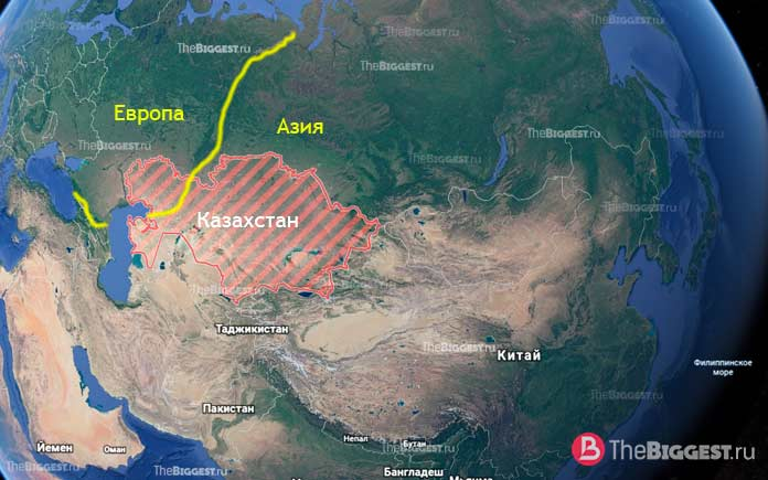 Казахстан - трансконтинентальные страны