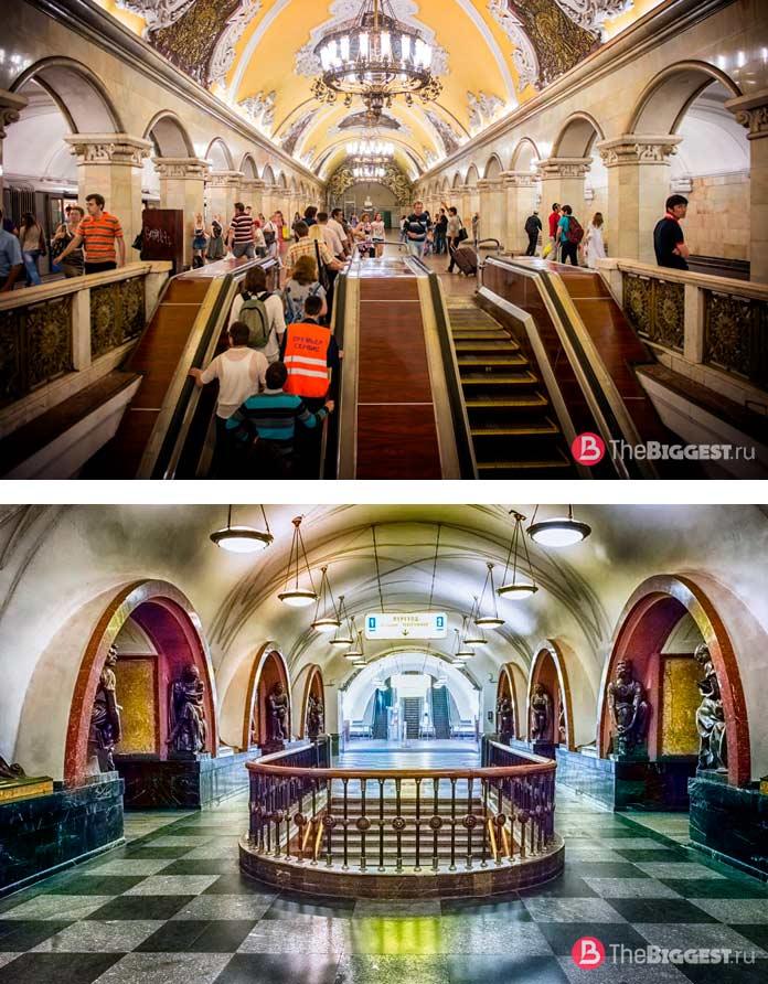 Список самых длинных лестниц в мире: Московский метрополитен