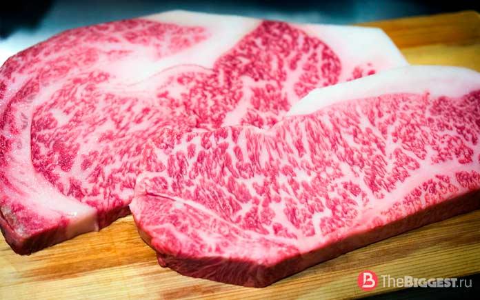 Список самых дорогих продуктов питания: Мраморная говядина вагью