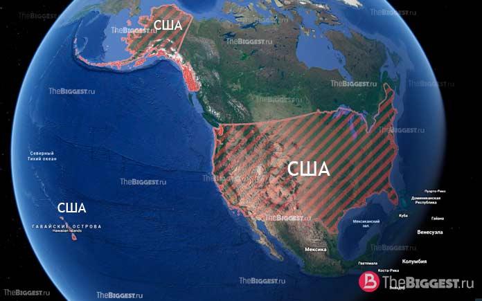 США - трансконтинентальные государства