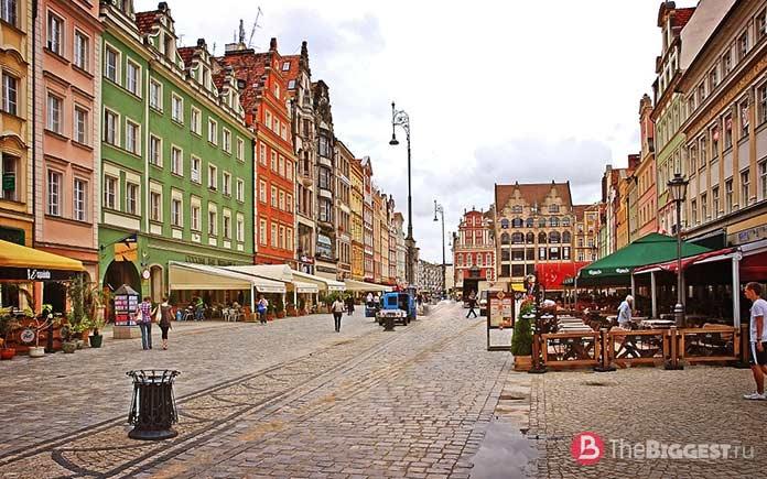 Вроцлавский Старый Город, Польша - одно из красочных мест Старого света