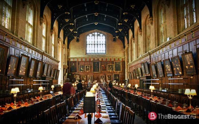 18 реальных мест из Гарри Поттера: Большой зал