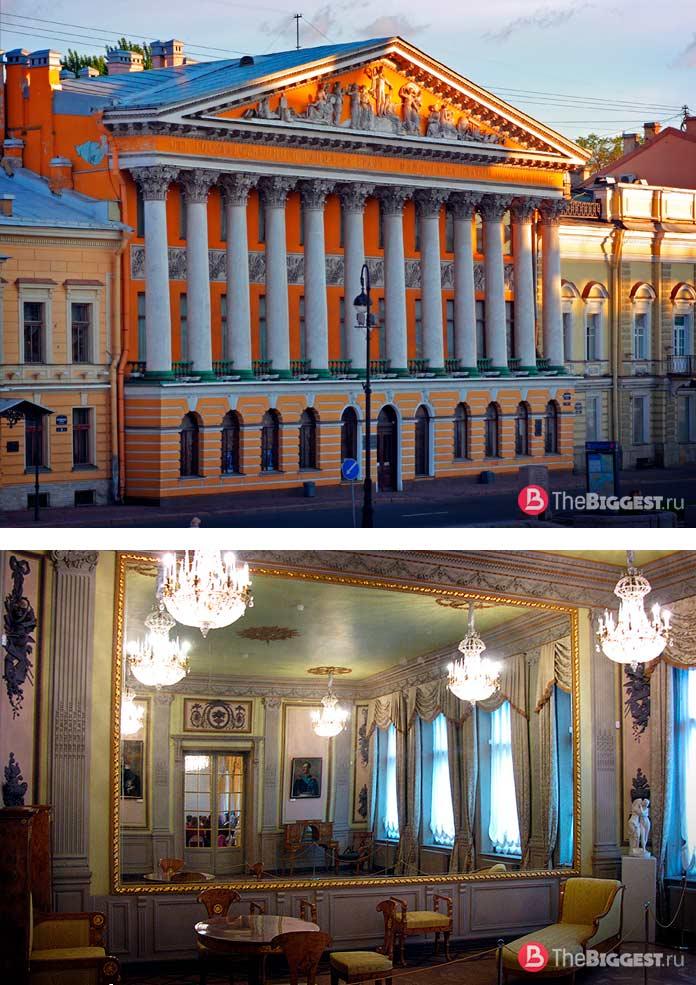 Самые большие зеркала в мире: Особняк Румянцева