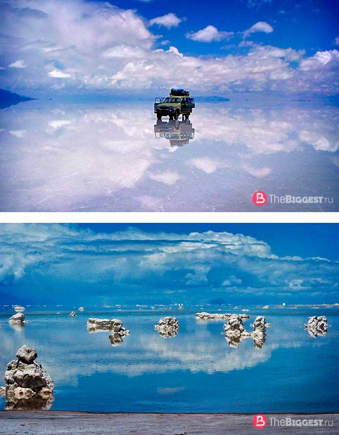 Самые большие зеркала в мире: Озеро Уюни. СС0