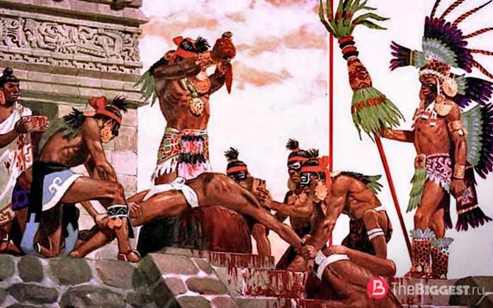 Жертвоприношение ацтеков
