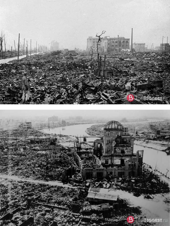 Хиросима в руинах