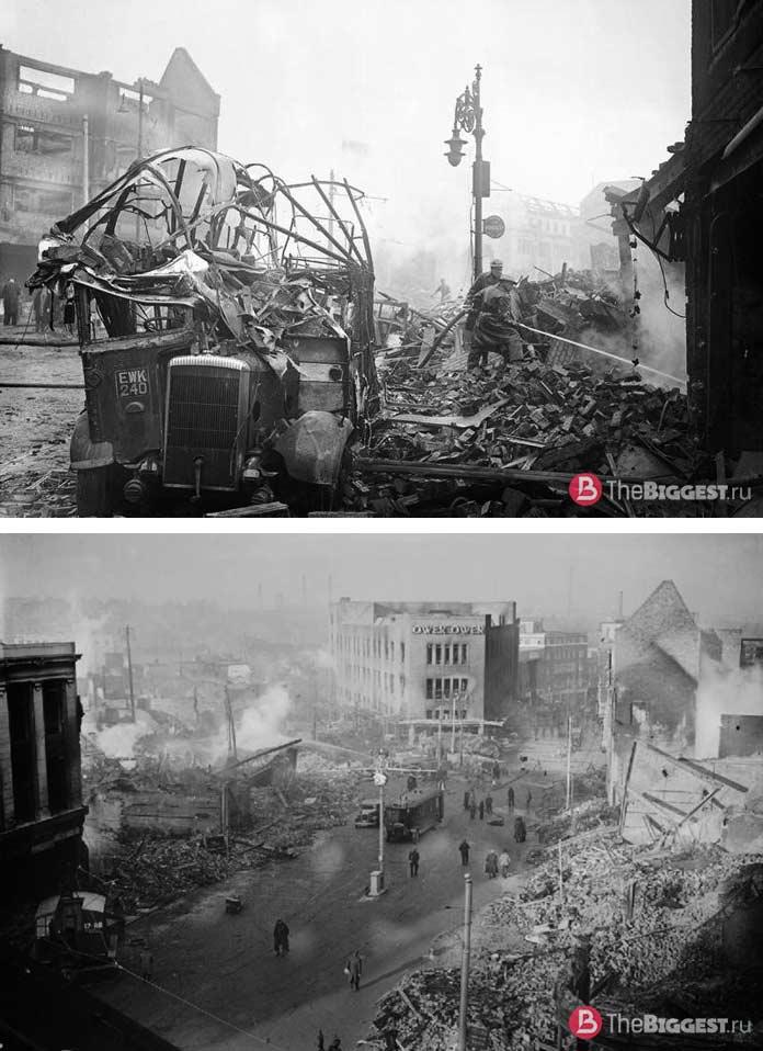 Разрушенный войной город Ковентри