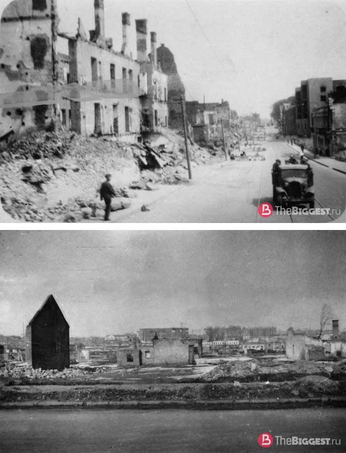 Минск в руинах