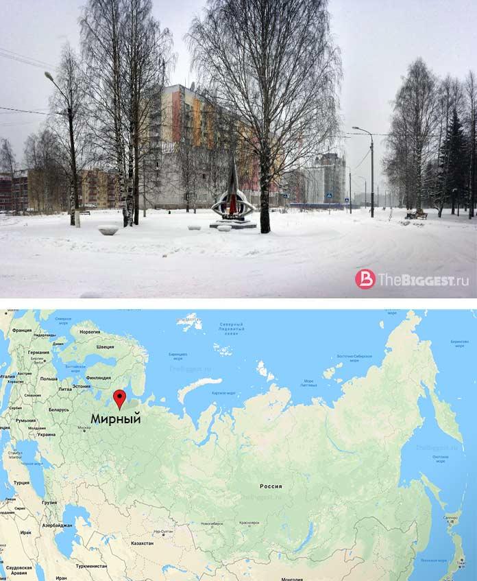 ЗАТО Мирный - один из закрытых городов России