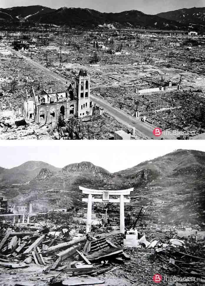 Известные города, разрушенные войной: Бомбардировка Нагасаки